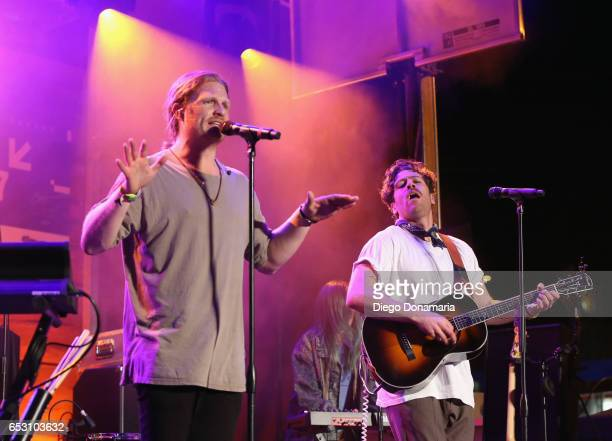 James Sunderland and Brett Hite of Frenship perform onstage at the Pandora Party during 2017 SXSW Conference and Festivals at The Gatsby on March 13...