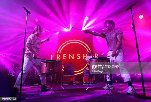 James Sunderland and Brett Hite of Frenship perform onstage at This Tent during day 1 of the 2018 Bonnaroo Arts And Music Festival on June 7 2018 in...