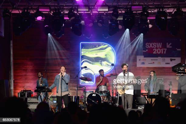 James Sunderland and Brett Hite of FRENSHIP perform onstage during Pandora at SXSW 2017 on March 13 2017 in Austin Texas