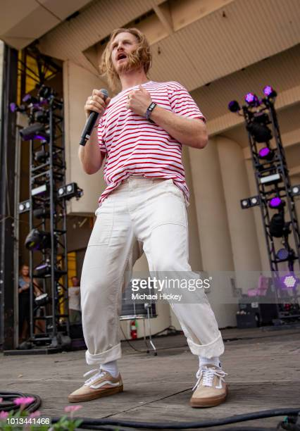 James Sunderland of Frenship peforms on day four of Lollapalooza at Grant Park on August 5 2018 in Chicago Illinois
