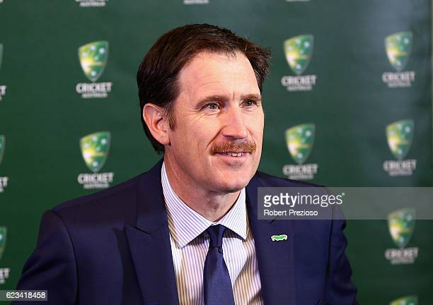 James Sutherland CEO Cricket Australia speaks to the media during a press conference on November 16 2016 in Hobart Australia