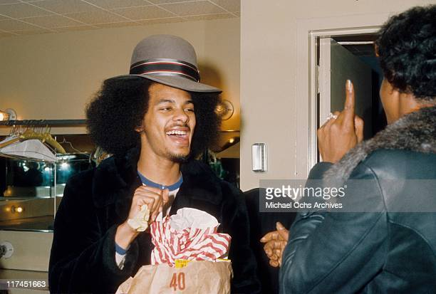 James Sylvers of the The R and B group The Sylvers backstage before performing at the Santa Monica Civic in March, 1974 in Santa Monica, California.