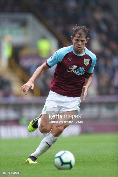 James Tarkowski of Burnley during the Premier League match between Burnley FC and Watford FC at Turf Moor on August 19 2018 in Burnley United Kingdom