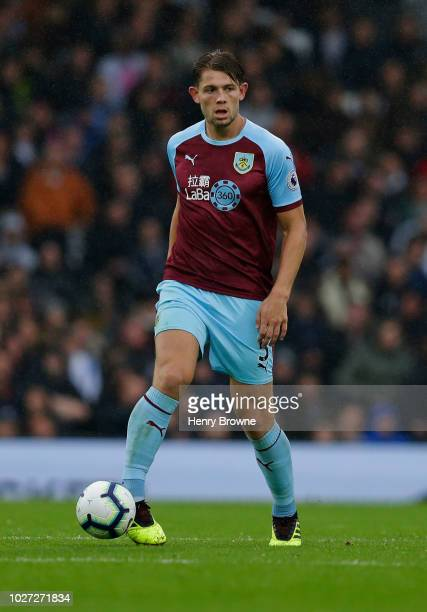 James Tarkowski of Burnley during the Premier League match between Fulham FC and Burnley FC at Craven Cottage on August 26 2018 in London United...