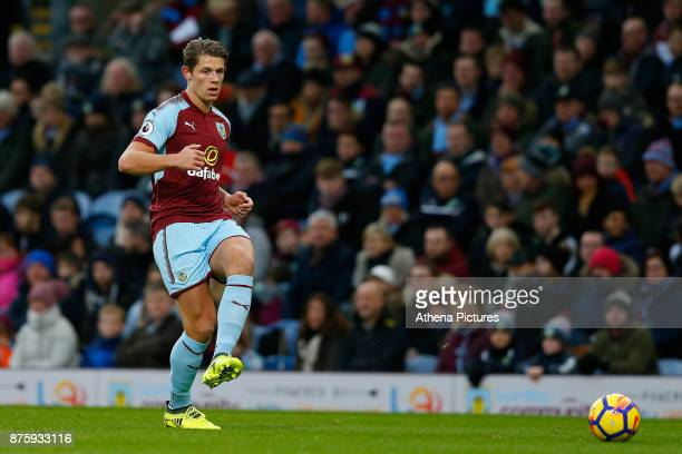 James Tarkowski of Burnley during the Premier League match between Burnley and Swansea City at Turf Moor on November 18 2017 in Burnley England