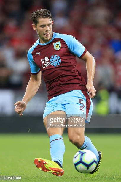 James Tarkowski of Burnley in action during the UEFA Europa League Second Qualifying Round 2nd Leg match between Burnley and Aberdeen at Turf Moor on...