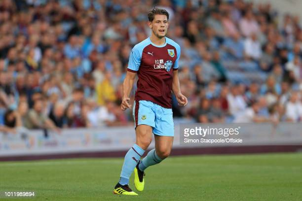 James Tarkowski of Burnley looks on during the UEFA Europa League Second Qualifying Round 2nd Leg match between Burnley and Aberdeen at Turf Moor on...