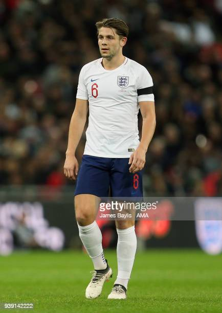 James Tarkowski of England during the International Friendly match between England and Italy at Wembley Stadium on March 27 2018 in London England