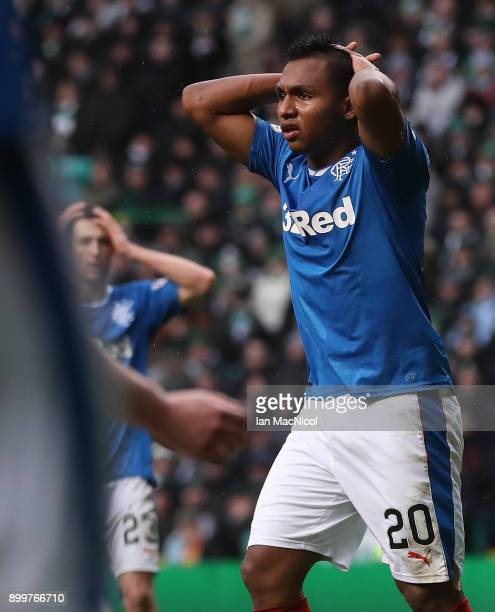 James Tavernier of Rangers controls the ball during the Scottish Premier League match between Celtic and Ranger at Celtic Park on December 30 2017 in...