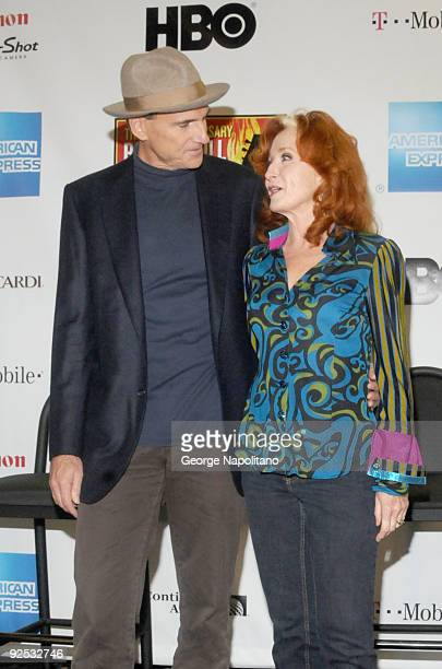 James Taylor and Bonnie Raitt attend the 25th Anniversary Rock Roll Hall of Fame Concert at Madison Square Garden on October 29 2009 in New York City