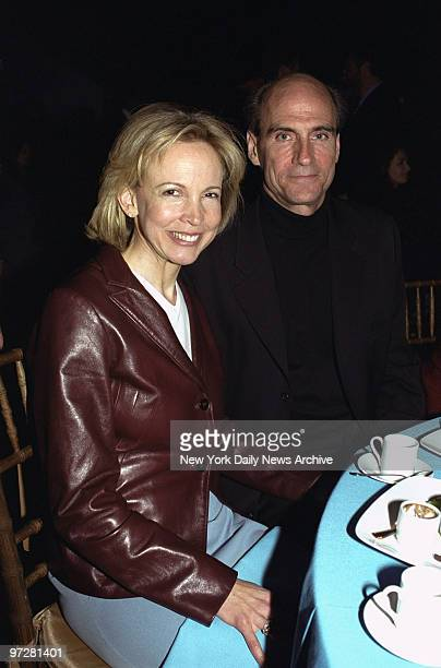 James Taylor and fiance Kim Taylor share a table at the Forces for Nature gala at Lincoln Center.