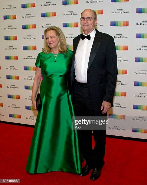 James Taylor and his wife Caroline 'Kim' Taylor arrive for the formal Artist's Dinner honoring the recipients of the 39th Annual Kennedy Center...