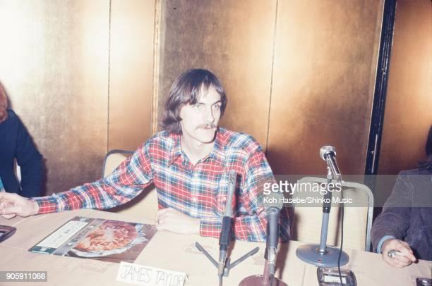 James Taylor at press conference January 1973 Tokyo Japan