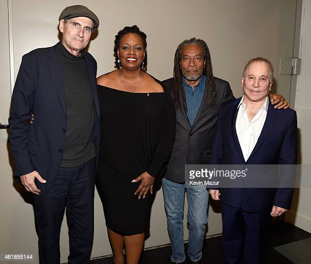 James Taylor Dianne Reeves Bobby McFerrin and Paul Simon attend the 'Nearness of You' Concert to Benefit Cancer Research at Frederick P Rose Hall...