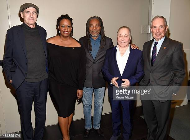 James Taylor Dianne Reeves Bobby McFerrin Paul Simon and former New York City Mayor Michael Bloomberg attend the 'Nearness of You' Concert to Benefit...