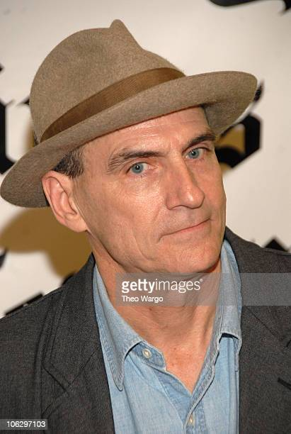 James Taylor during James Taylor Hosts The New York Times Emerging Artist Series at Joes Pub in New York City New York United States