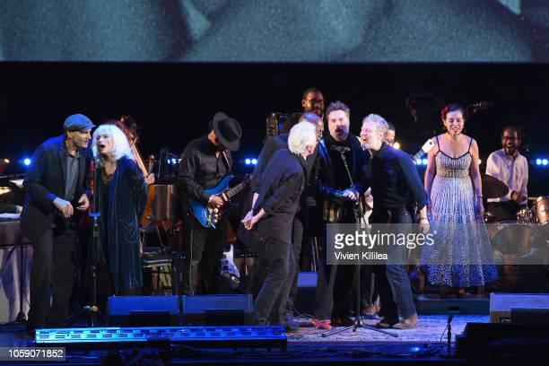 James Taylor Emmylou Harris Graham Nash Seal Rufus Wainwright and Glen Hansard perform onstage at Joni 75 A Birthday Celebration Live At The Dorothy...