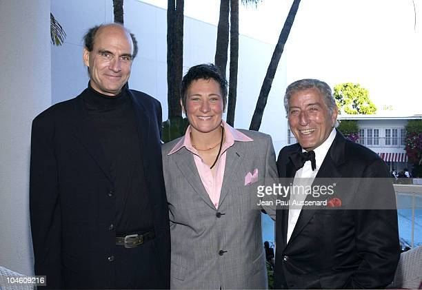 James Taylor kd lang and Tony Bennett during The 19th Annual ASCAP Pop Music Awards at Beverly Hilton Hotel in Beverly Hills California United States
