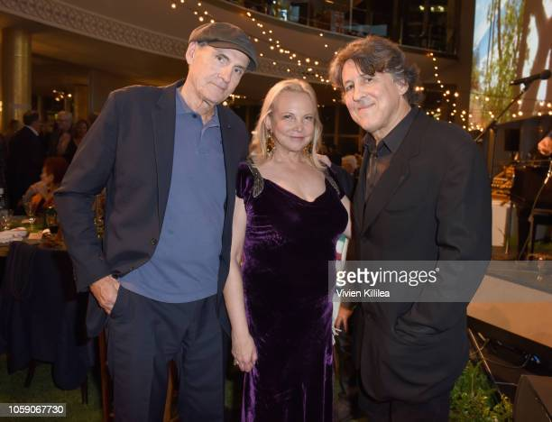 James Taylor Kim Taylor and Cameron Crowe attend Joni 75 A Birthday Celebration Live At The Dorothy Chandler Pavilion on November 7 2018 in Los...