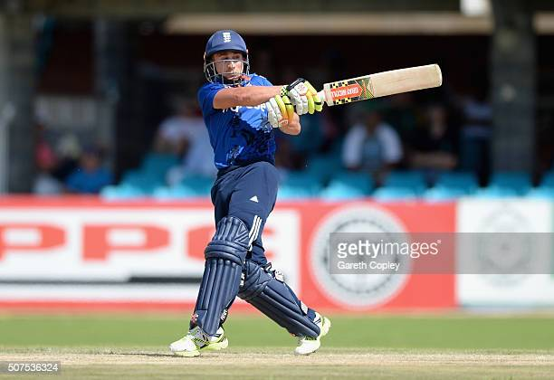 James Taylor of England bars during the One Day Tour Match between South Africa A and England at the Diamond Oval on January 30 2016 in Kimberley...