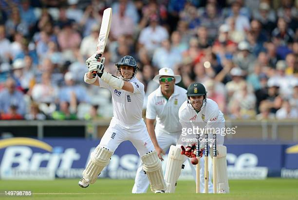 James Taylor of England bats during day three of the 2nd Investec Test match between England and South Africa at Headingley on August 4, 2012 in...