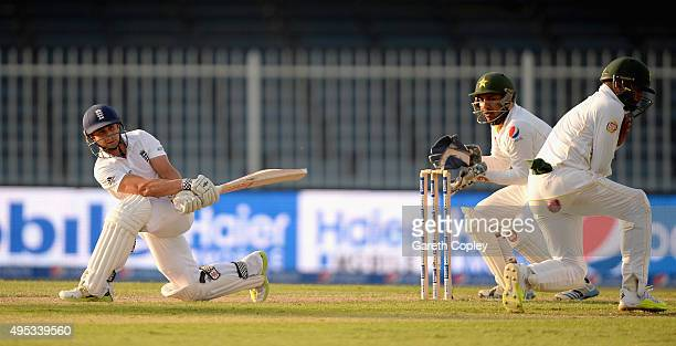 James Taylor of England bats during day two of the 3rd Test between Pakistan and England at Sharjah Cricket Stadium on November 2 2015 in Sharjah...