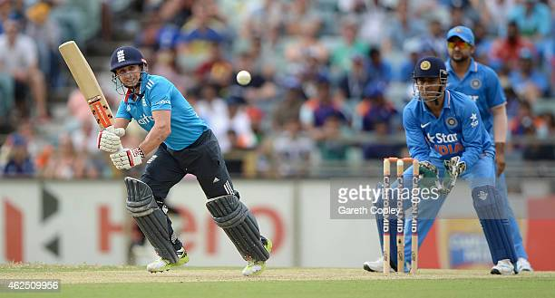 James Taylor of England bats during the One Day International match between England and India at WACA on January 30 2015 in Perth Australia