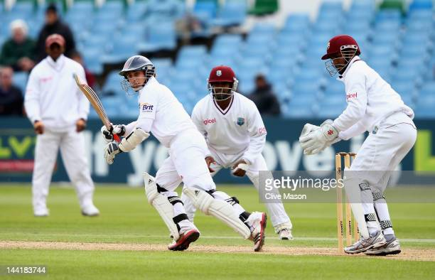 James Taylor of England Lions in action on his way to a half century during day two of the tour match between England Lions and West Indies at The...