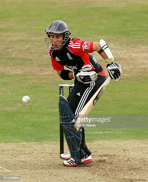 James Taylor of England Lions is hit by the balll during the One Day International match between England Lions and Sri Lanka A at The County Ground...