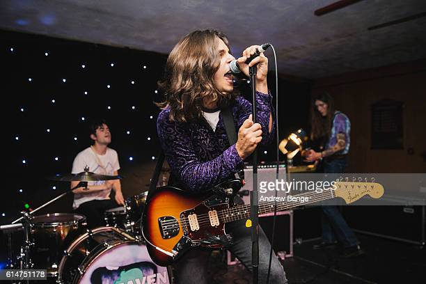 James Taylor of InHeaven performs at Brudenell Social Club on October 14 2016 in Leeds England
