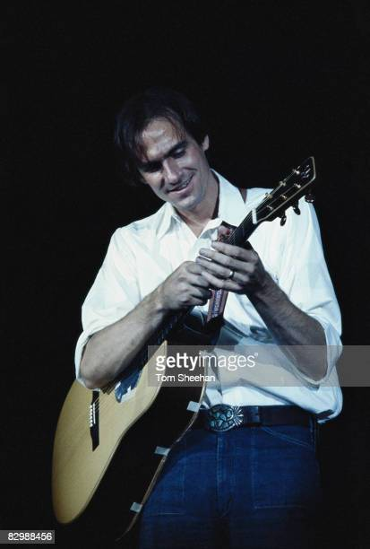 James Taylor performing at a CBS Records conference in London 1977