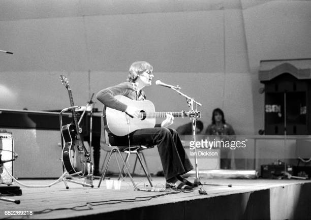 James Taylor performing on stage at Crystal Palace Bowl Garden Party London 15 September 1973