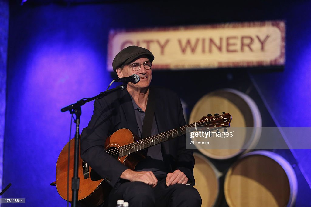 James Taylor performs a live radio broadcast on WCBS-FM at City Winery on June 22, 2015 in New York City.