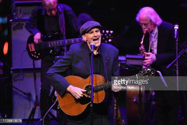 James Taylor performs at The Nearness Of You Concert in Honor of Michael Brecker at Jazz at Lincoln Center on January 28 2019 in New York City