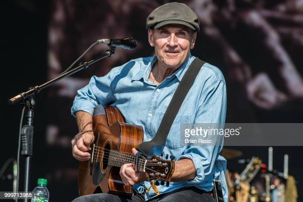 James Taylor performs on stage at Barclaycard present British Summer Time Hyde Park at Hyde Park on July 15 2018 in London England