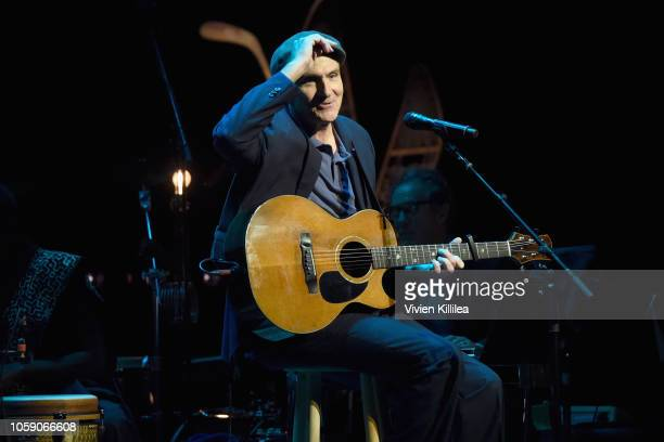 James Taylor performs onstage at Joni 75 A Birthday Celebration Live At The Dorothy Chandler Pavilion on November 7 2018 in Los Angeles California