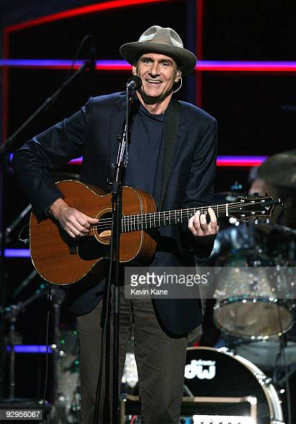 James Taylor performs onstage at the 25th Anniversary Rock Roll Hall of Fame Concert at Madison Square Garden on October 29 2009 in New York City
