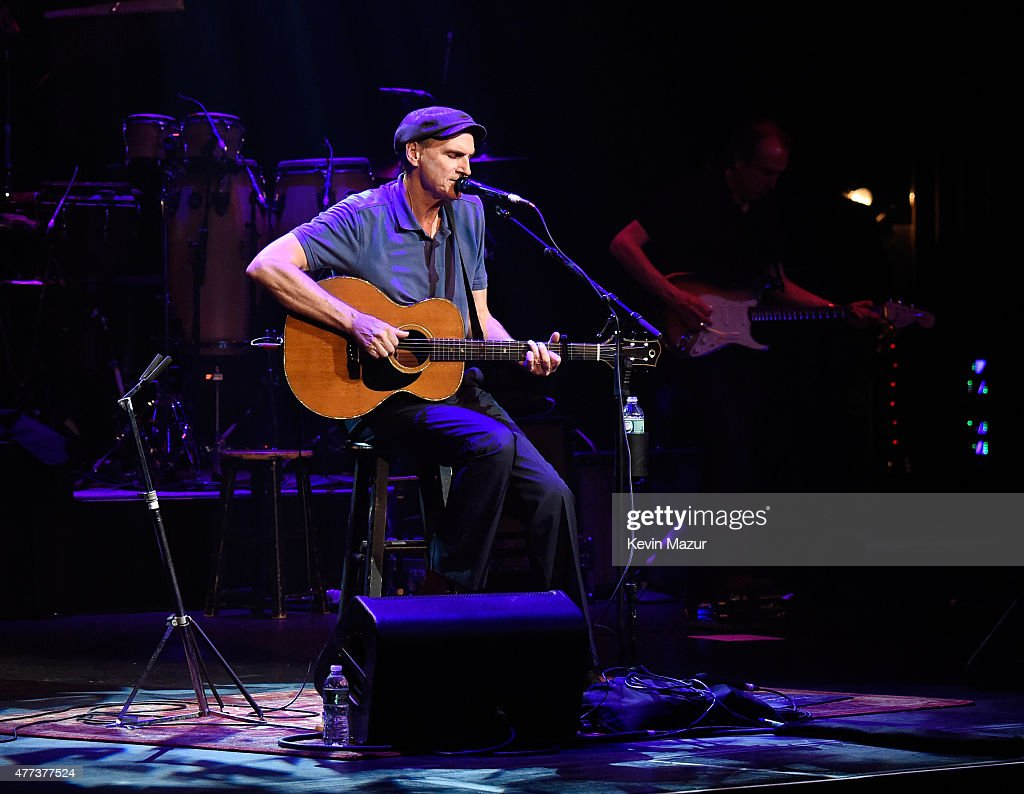 James Taylor performs onstage during SiriusXM Presents James Taylor Live at The Apollo Theater on June 16, 2015 in New York City.