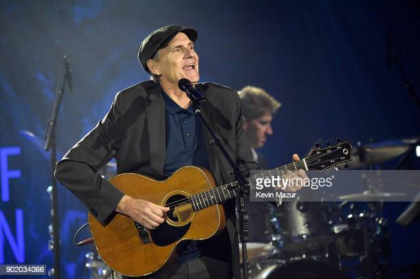 James Taylor performs onstage during the 7th Annual Sean Penn Friends HAITI RISING Gala benefiting J/P Haitian Relief Organization on January 6 2018...