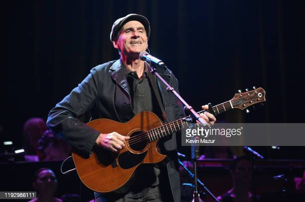 James Taylor performs onstage during The Rainforest Fund 30th Anniversary Benefit Concert Presents 'We'll Be Together Again' at Beacon Theatre on...
