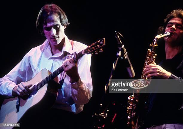 James Taylor performs with David Sanborn at the Marin Civic Auditorium in San Rafael California November 21 1977