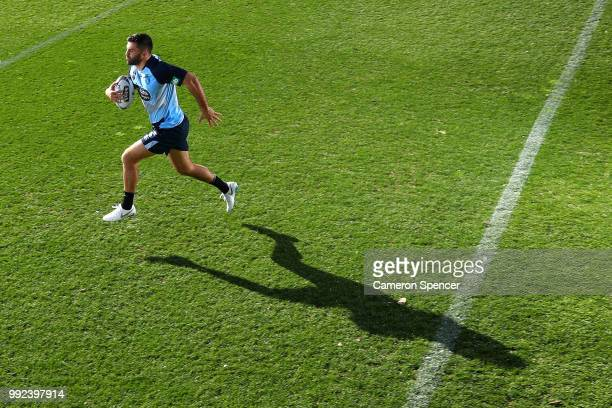 James Tedesco of the Blues poses for a portrait during a New South Wales Blues State of Origin training session at Coogee Oval on July 6 2018 in...