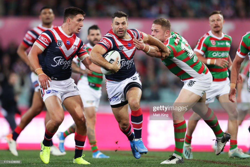 NRL Qualifying Final - Roosters v Rabbitohs : News Photo