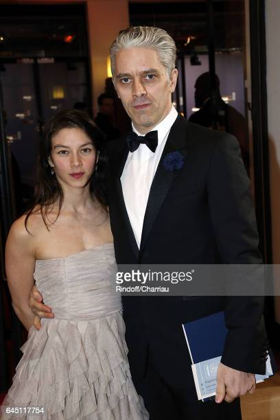 James Thierree and guest attend Cesar Film Award 2017 at Salle Pleyel on February 24 2017 in Paris France
