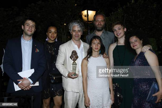 James Thierree and his team attend the Dinner of La Nuit des Molieres 2017 at la Closerie des Lilas on May 29 2017 in Paris France
