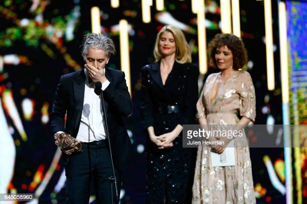 James Thierree receives the Cesar of Best supporting actor in 'Chocolat' given by Alice Taglioni and Valeria Golino during the Cesar Film Awards...