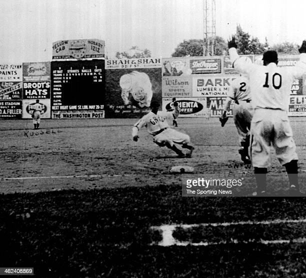 """James Thomas """"Cool Papa"""" Bell of the Homestead Grays of the Negro Baseball League looks on circa 1932."""
