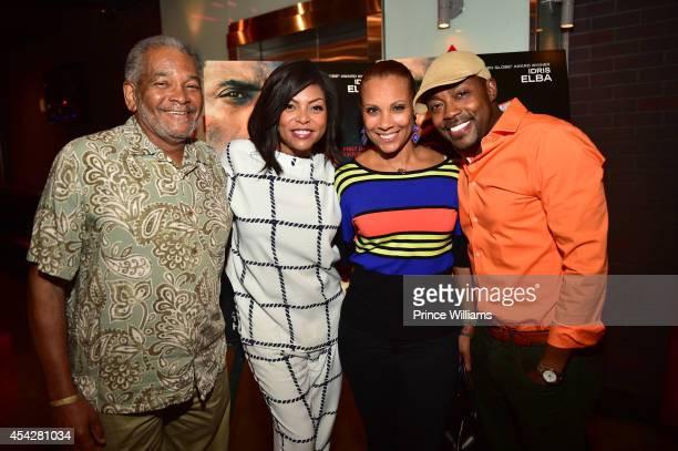 James Thompson Taraji P Henson Heather Hayslett and Will Packer attend the Atlanta screening of No Good Deed at Strip Atlantic Station on August 27...
