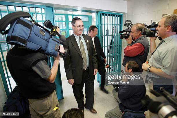 James Tilton Secretary of the California Department of Corrections and Rehabilitation center leads a group of journalists on a tour of California...