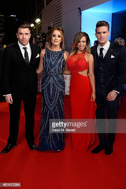 James Tindale Charlotte Crosby Holly Hagan and Gaz Beadle attend the National Television Awards at 02 Arena on January 21 2015 in London England